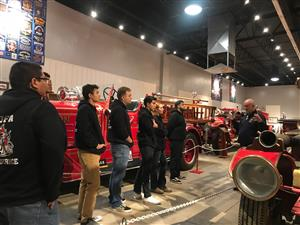 Kofa students on the fire museum tour