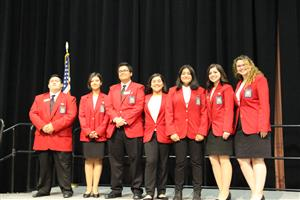 SkillsUSA officers for Region 1