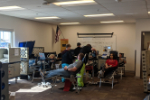 Patients giving blood at VAHS