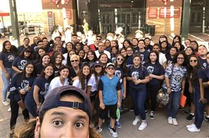 YHS students at Diamondbacks game