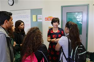 Charlene Fernandez visited San Luis High School