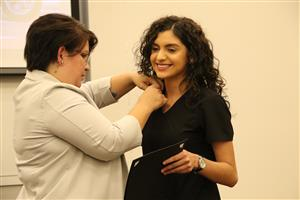 CHS nursing student pinned by Ms. Mendoza