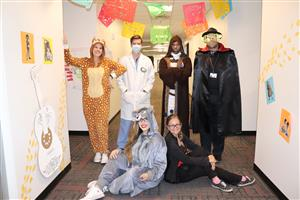 KHS science department dresses up for Halloween
