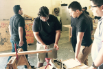 Students in AWC carpentry