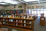 CHS library with books
