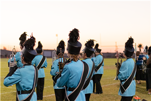 GRHS Band at sunset
