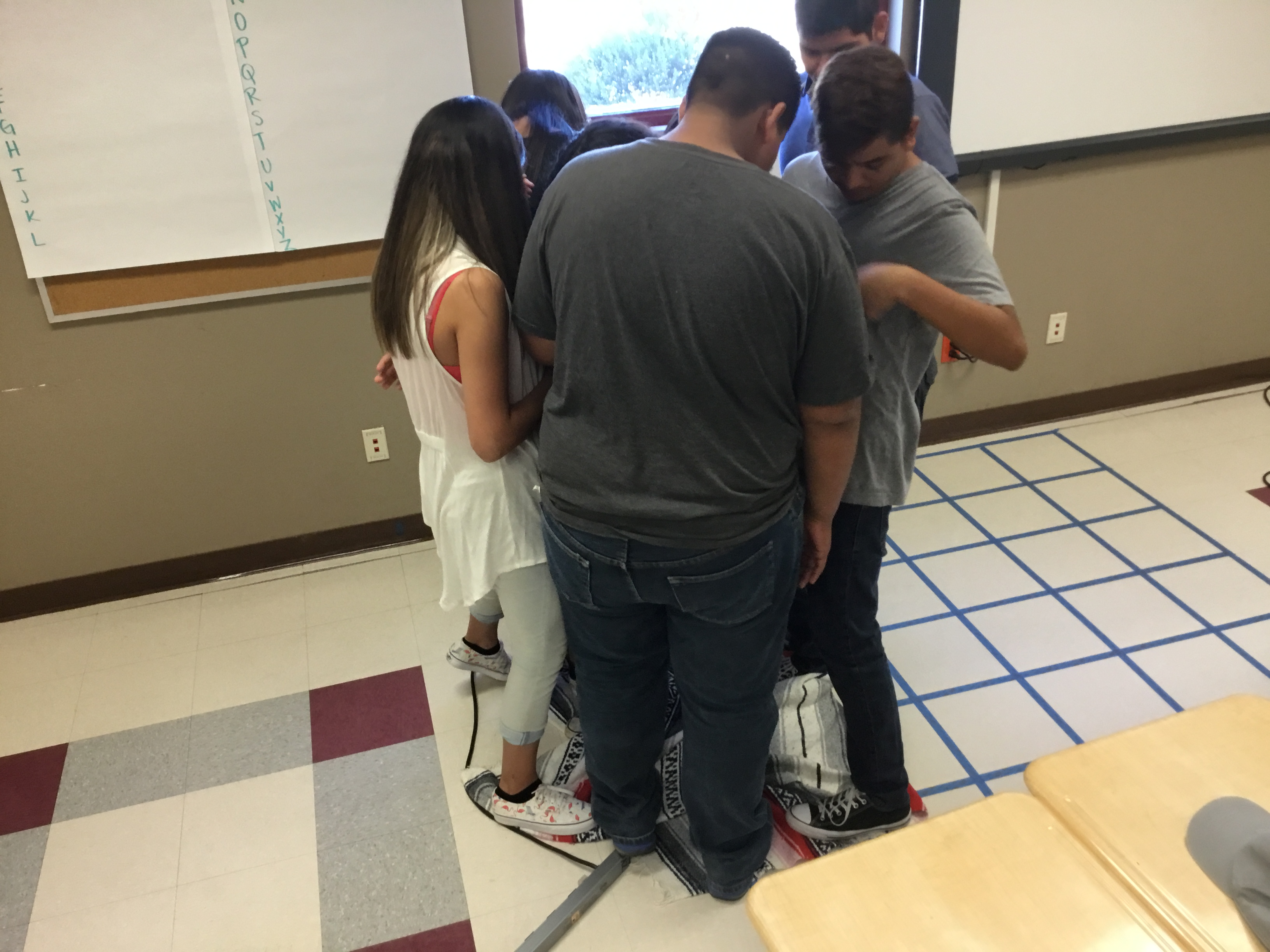 Students participated in numerous team-building activities at the Migrant Summer Academy.